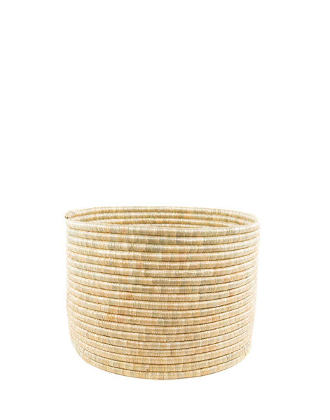 Round Knitting Basket - Natural