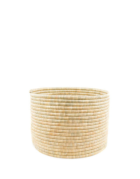 Medium Natural Round Knitting Basket | The Little Market