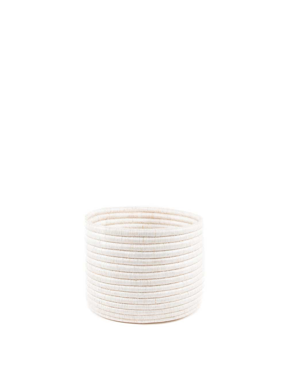 Small White Round Knitting Basket | The Little Market