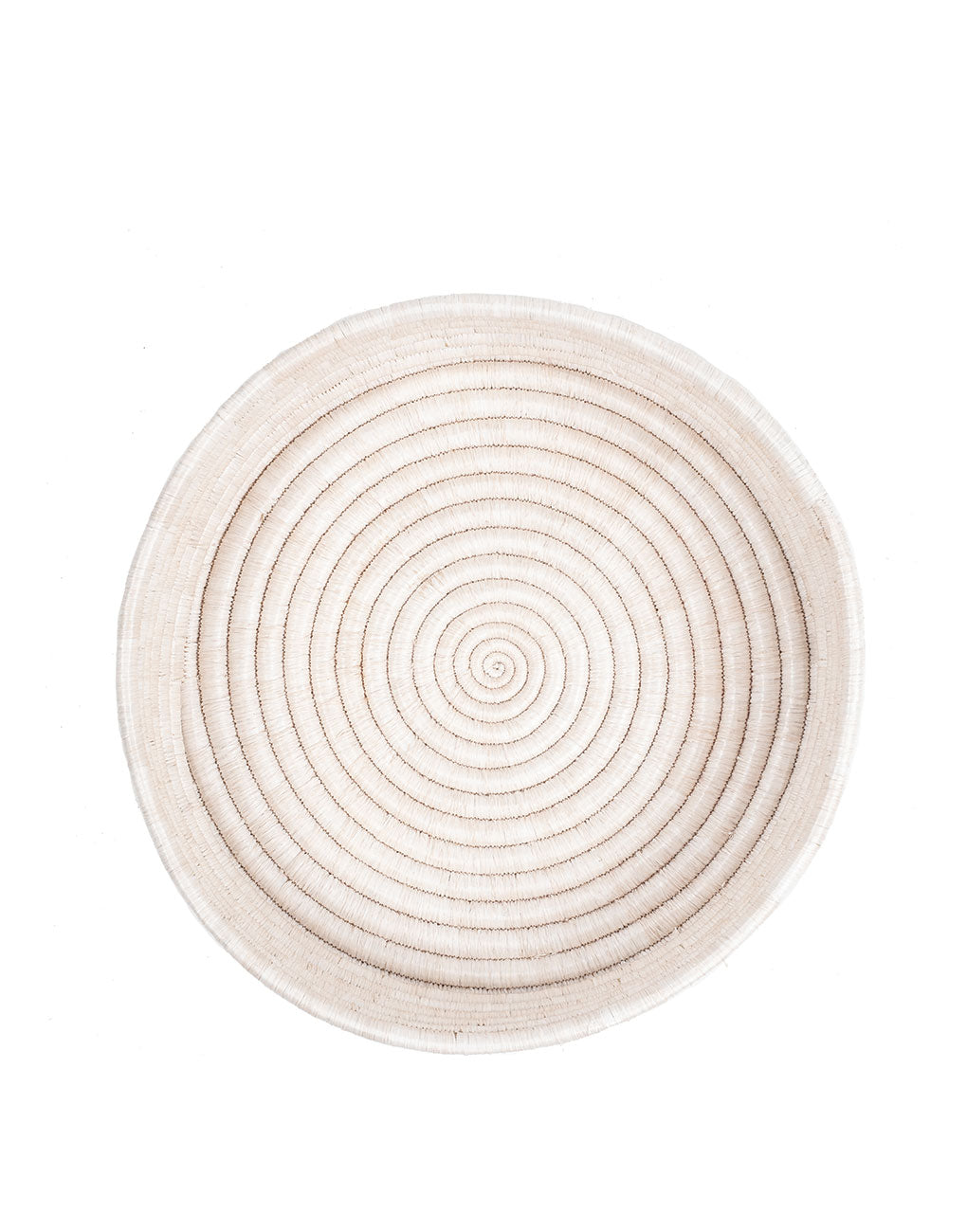 Round Woven Serving Tray - White | The Little Market