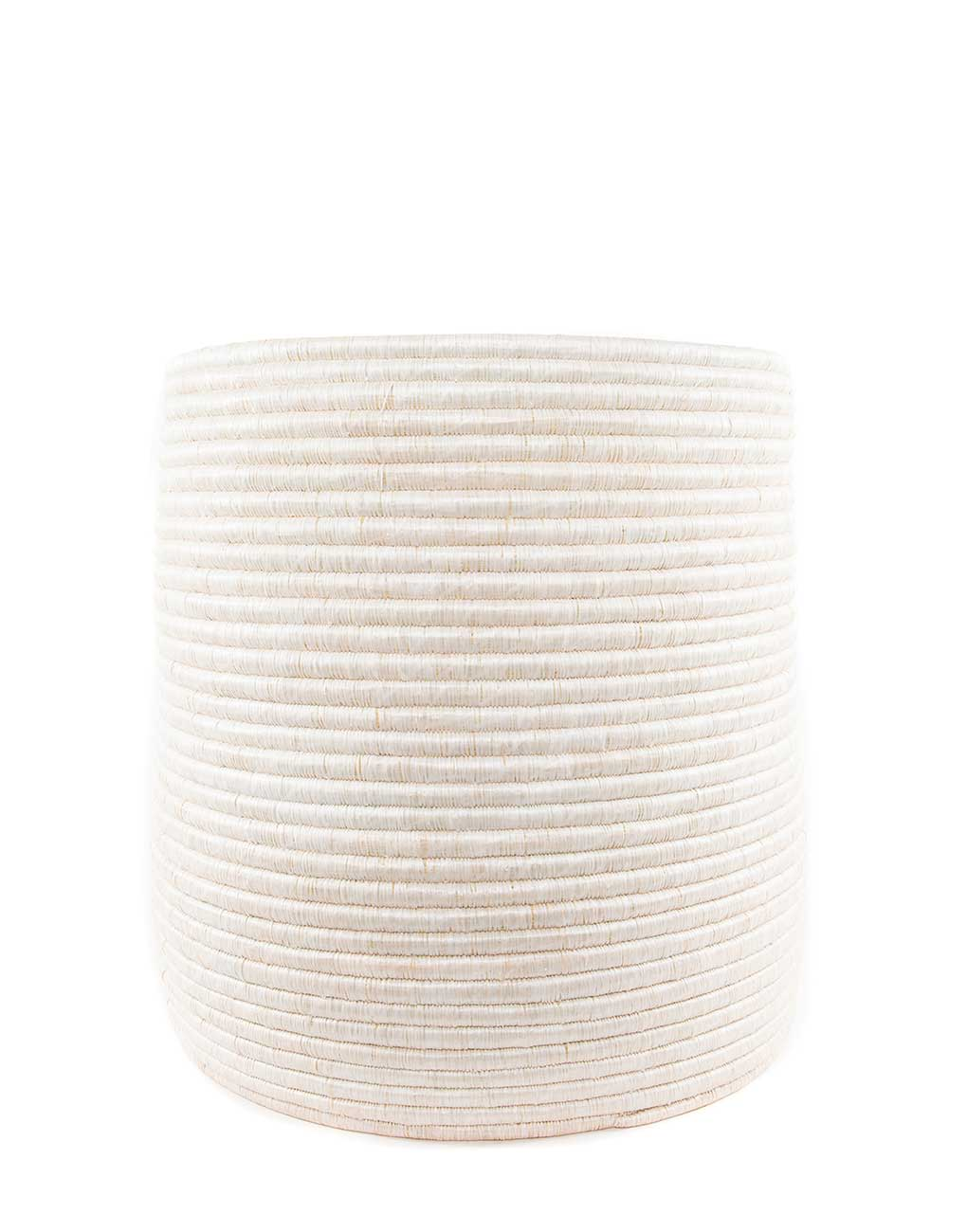 Large White Round Woven Storage | The Little Market