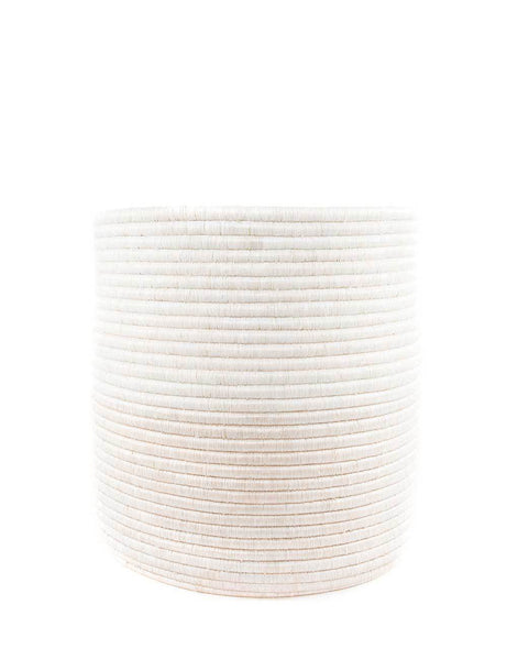 Medium White Round Woven Storage | The Little Market