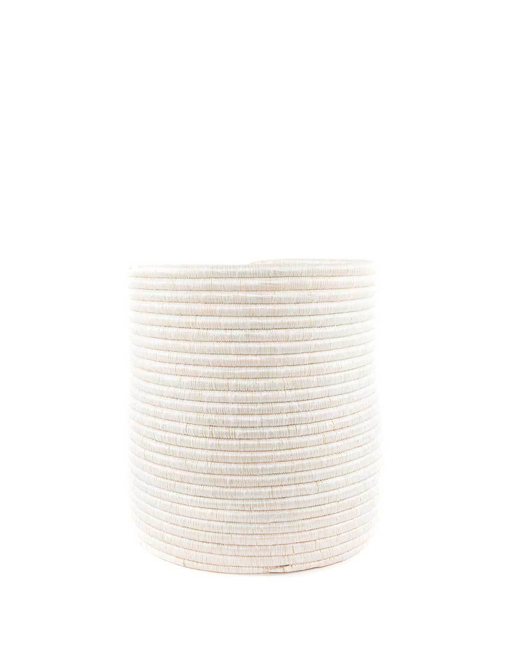 Small White Round Woven Storage | The Little Market