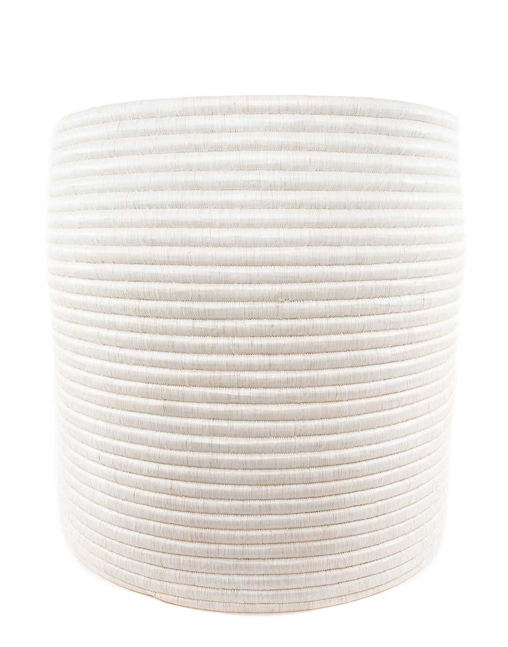 Extra Large White Round Woven Storage | The Little Market