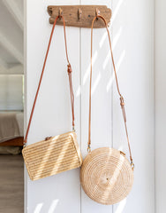 Rattan Round and Rectangle Crossbody Bags | The Little Market