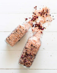 Small And Large Rose Scented Soaking Salt Spilled | The Little Market