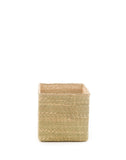 "8"" Inch Square Iringa Basket In Natural 