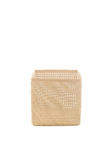 Square Open Weave Iringa Basket - Natural