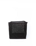 "10"" Inch Square Open Weave Iringa Basket In Black 