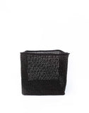 "12"" Inch Square Open Weave Iringa Basket In Black 