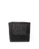 "13"" Inch Square Open Weave Iringa Basket In Black 