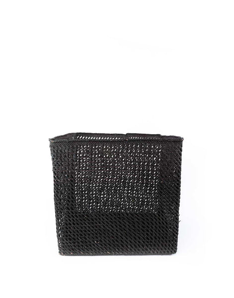 Square Open Weave Iringa Basket - Black
