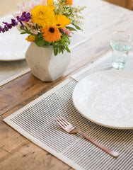Black Striped Placemat | The Little Market