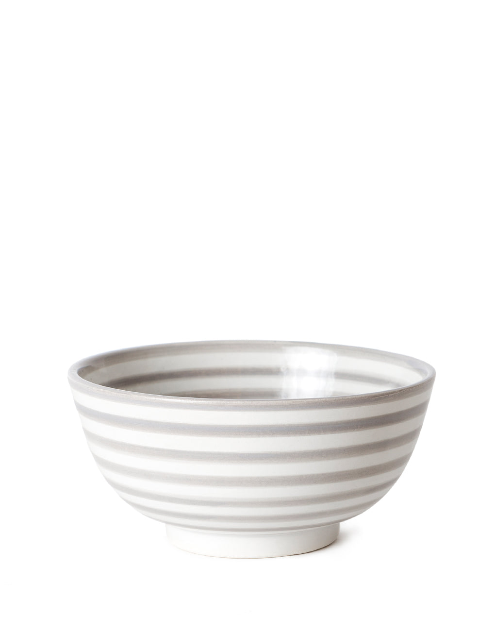 Gray Striped Ceramic Salad Bowl | The Little Market