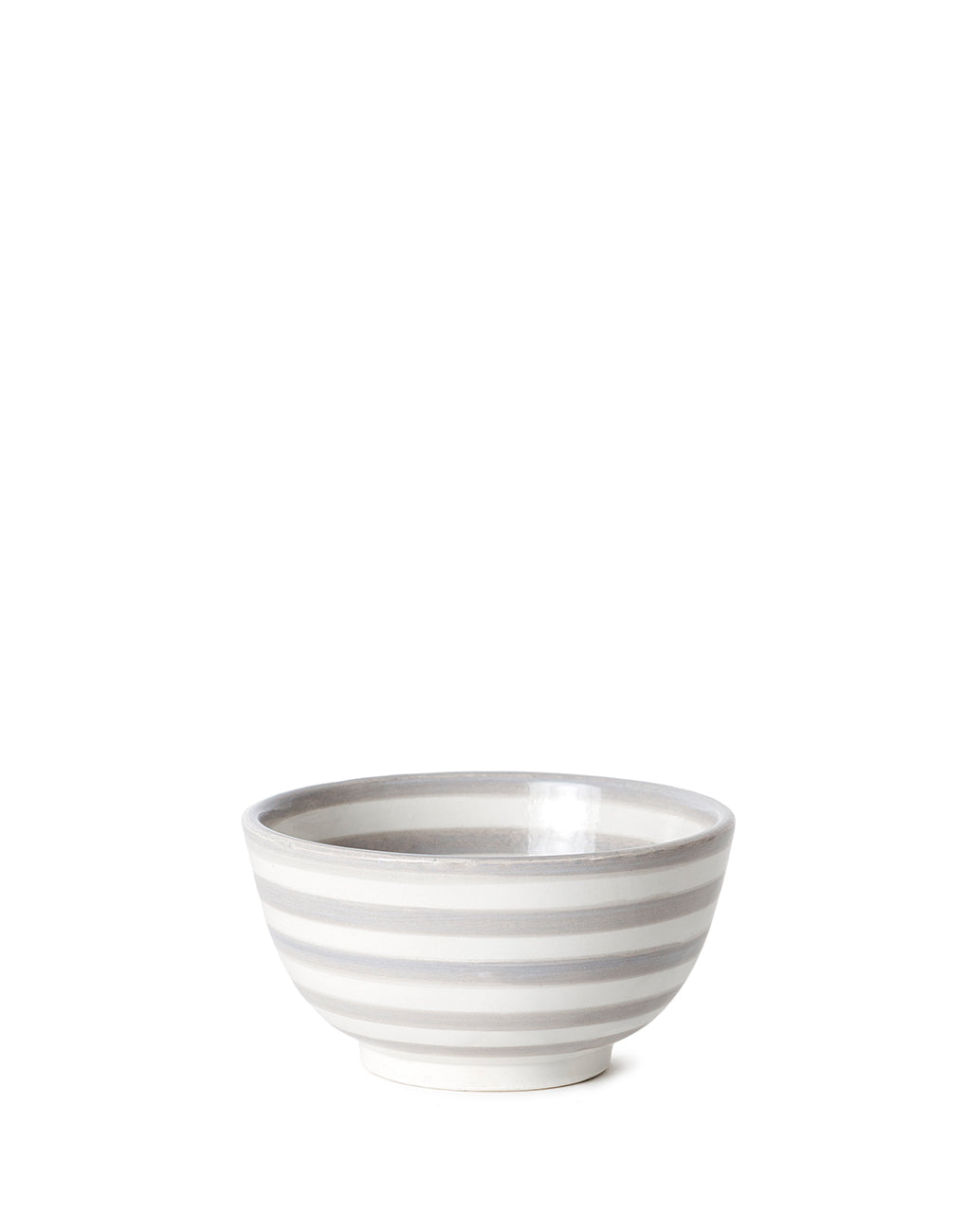 Gray Striped Ceramic Soup Bowl | The Little Market