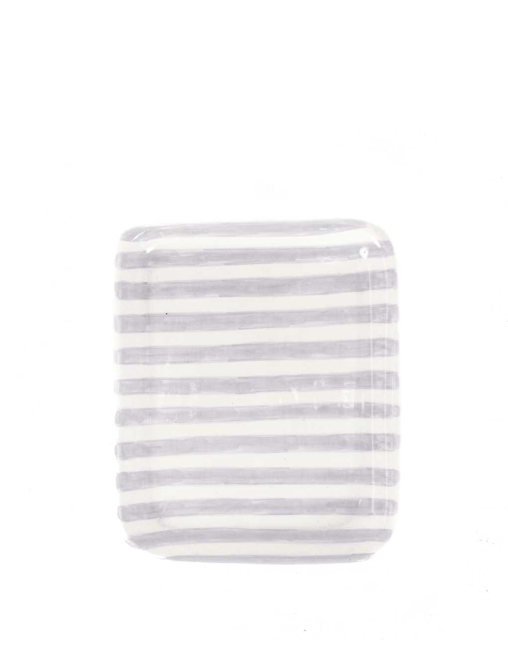 Ceramic Tray - Gray Stripe