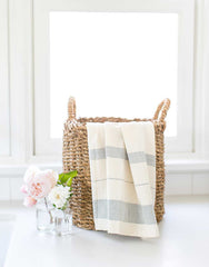 Fair Trade Striped Blue Hand Towel