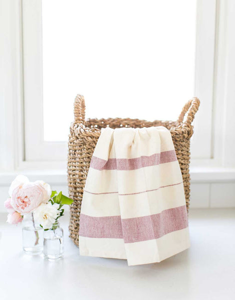 Fair Trade Striped Red Hand Towel