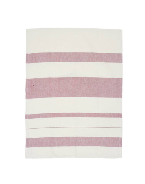 Striped Kitchen Towel - Cranberry