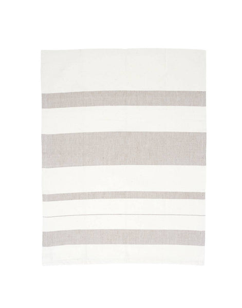 Striped Kitchen Towel - Currant