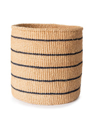 Fair Trade, Hand-woven Sisal Basket, Black