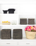 Variant Size Square Iringa Baskets In Black | The Little Market