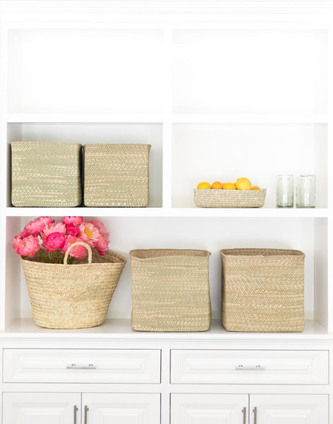 Square Iringa Baskets In Natural | The Little Market