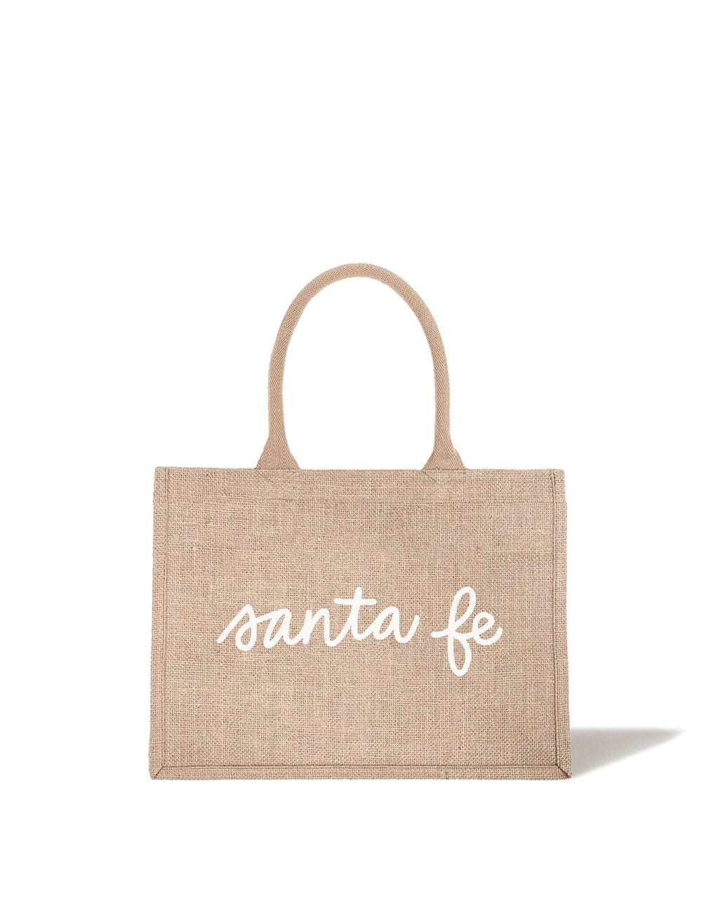 Small Santa Fe Reusable Shopping Tote In White Font | The Little Market