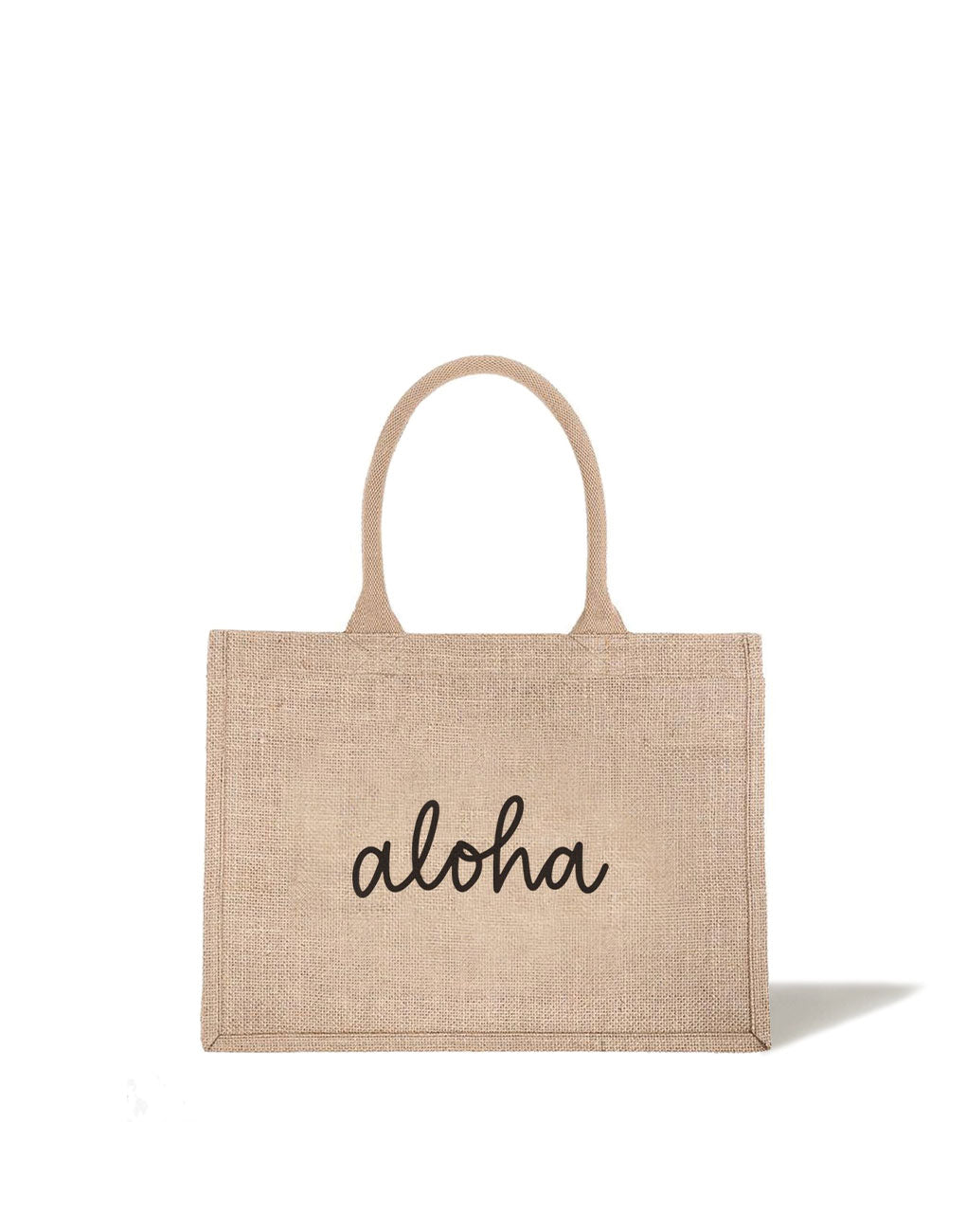 Small Aloha Reusable Shopping Tote In Black Font | The Little Market