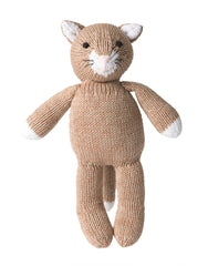 Fair Trade, Artisan Made, Hand-knit Tan Cat Stuffed Animal