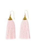 Fair Trade, Handmade Fringe Earrings, Pink
