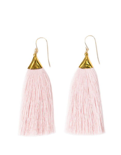 Tassel Earrings - Light Pink