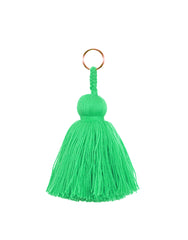 Fair Trade, Handmade Lime Green Tassel Keychain