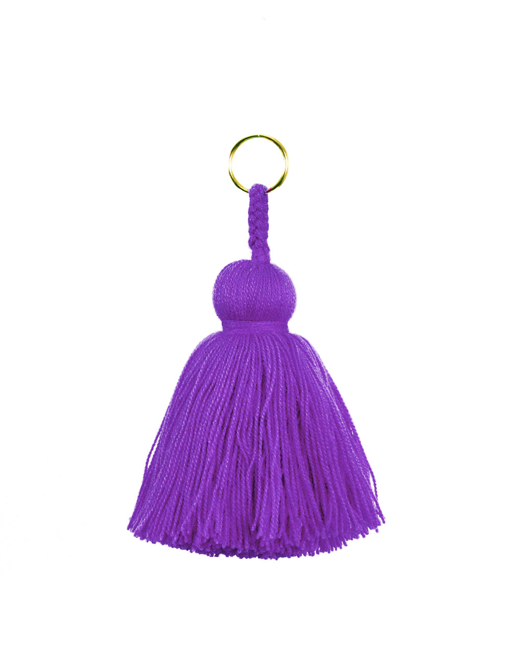 Fair Trade, Handmade Purple Tassel Keychain