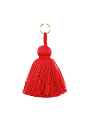 Fair Trade, Handmade Red Tassel Keychain