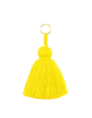 Fair Trade, Handmade Sunshine Yellow Tassel Keychain