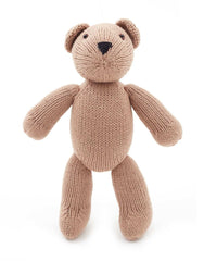 Fair Trade Artisan Knit Tan Teddy Bear Stuffed Animal