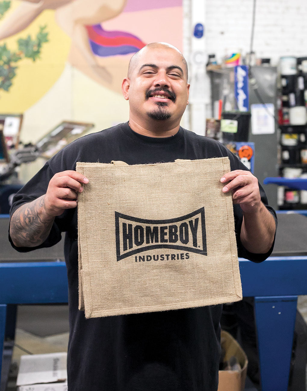 Homeboy Industries Reusable Shopping Tote in Black Font | The Little Market