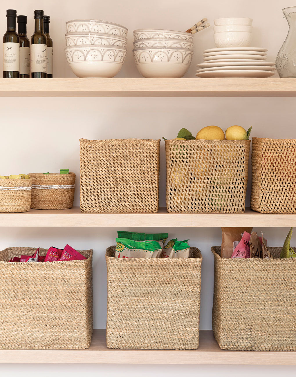 Square Open Weave Iringa Basket In Natural | The Little Market
