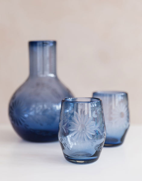 French Blue Stemless Wine Glass | The Little Market