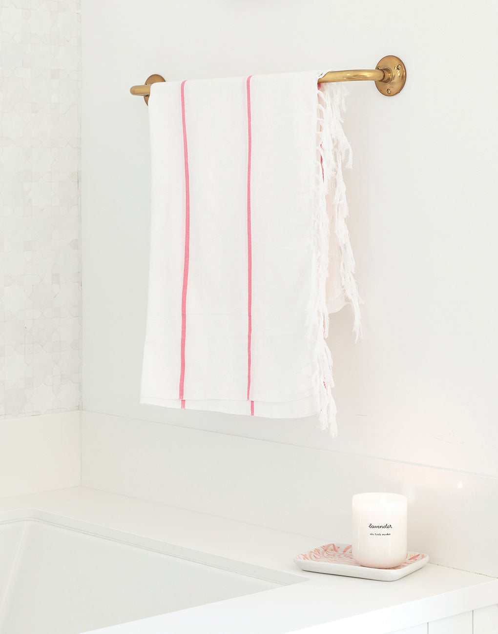 Lightweight Fringe Towel | The Little Market