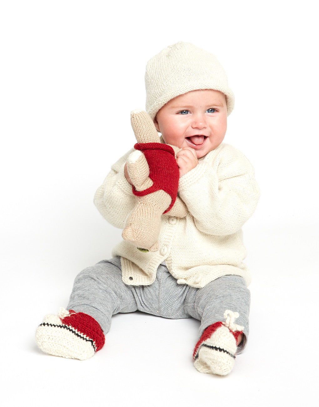 TheLittleMarket Red Knit Baby Sneakers