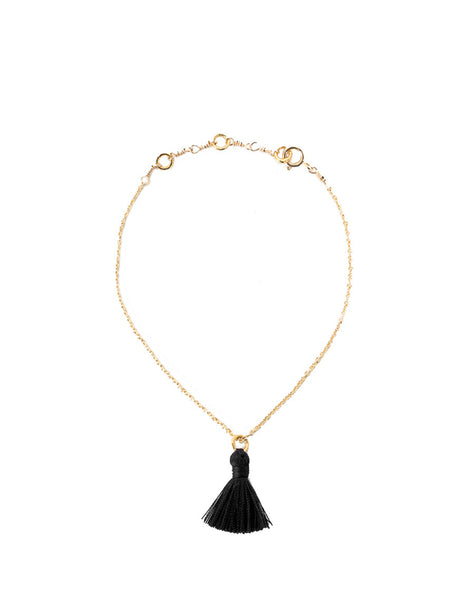 Tiny Tassel Bracelet - Black