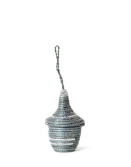 Tiny Ornamental Basket - Charcoal Z Metallic