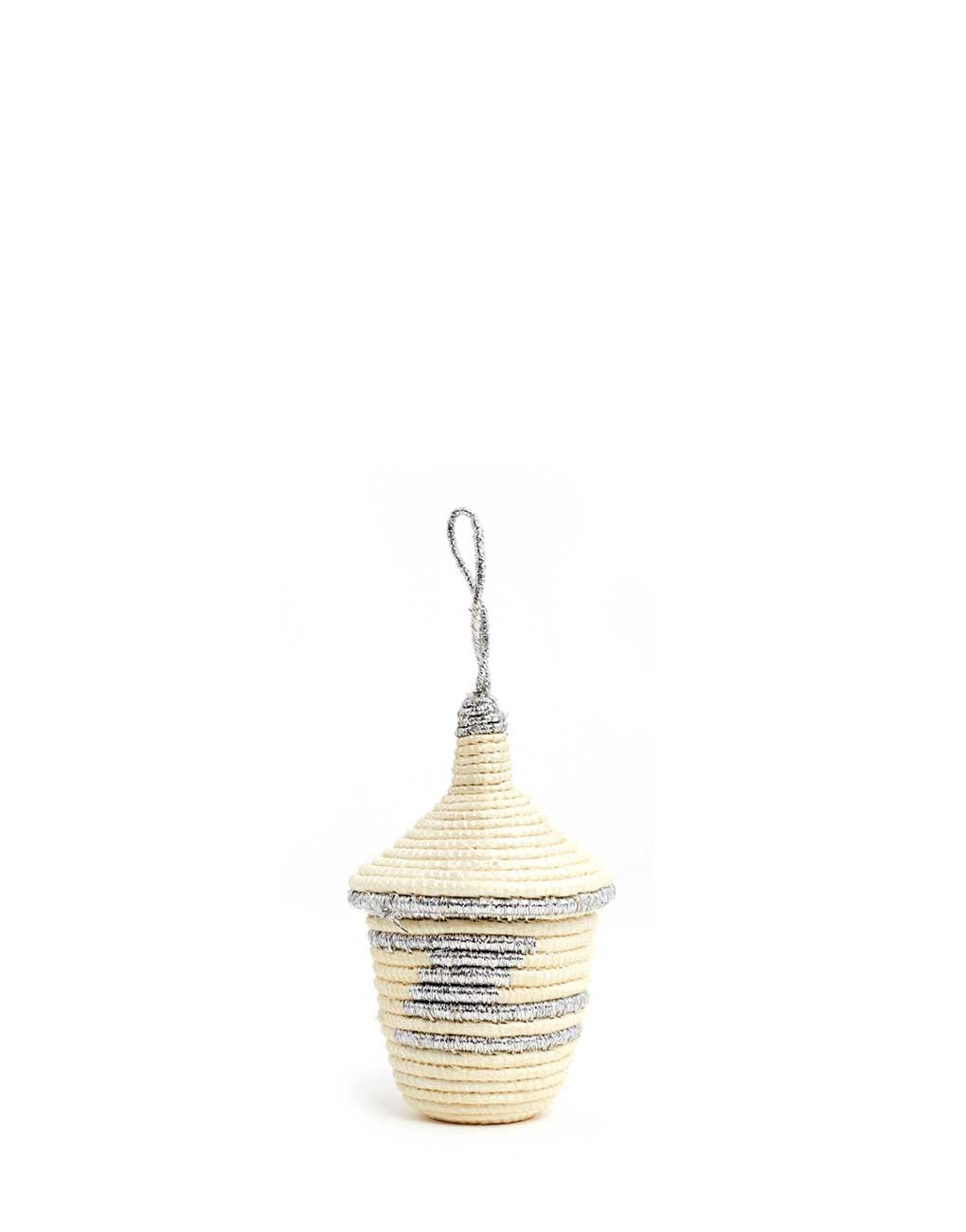 Fair Trade Handwoven Silver Basket
