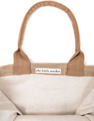 To The Moon Medium Gift Tote Bag with Canvas Interior | The Little Market