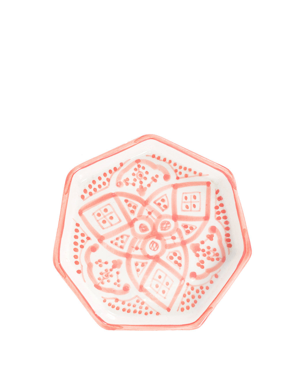 Fair Trade, Handmade Moroccan Ceramic Trinket Tray, Pink