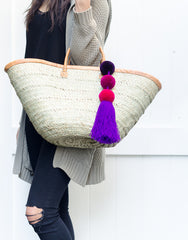 Fair Trade Artisan Made Purple Triple Pom Pom Charm