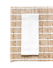 Fair Trade White Napkin & Banana Bark Placemat