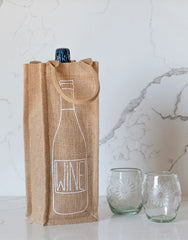 Lauren Conrad Design Wine Reusable Wine Tote In Black Design | The Little Market